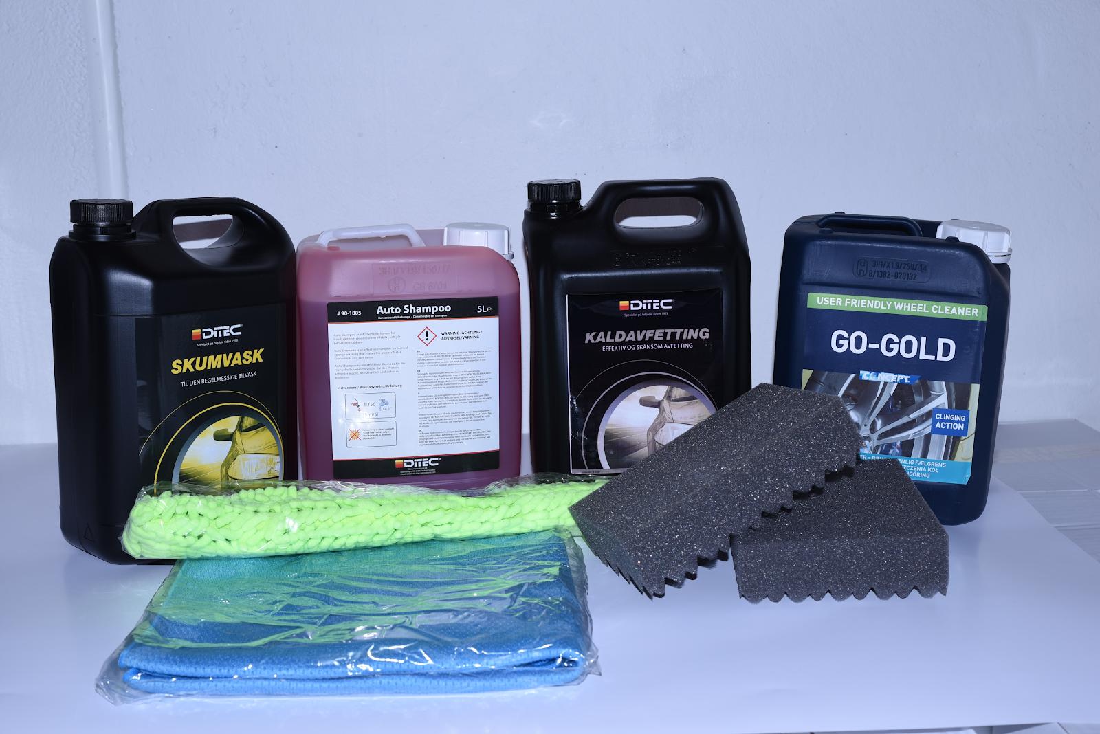 Vaskepakke storforbruker med kaldavfetting